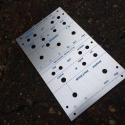Buchla style 285 panel (engraved)