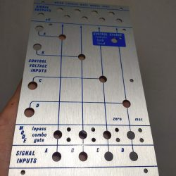 Buchla style 292c panel (screen printed)