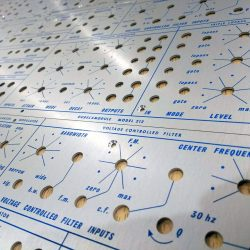 Buchla style front panels